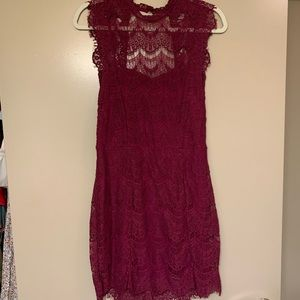 Purple Free People lace dress